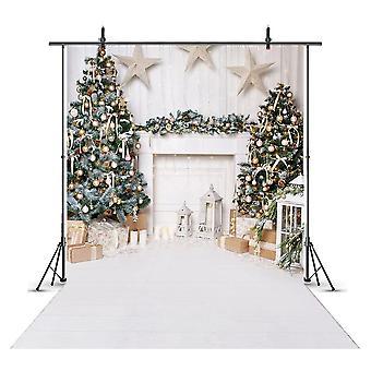 Sneeuwportret achtergrond voor fotografie sneeuwvlok foto kerstboom
