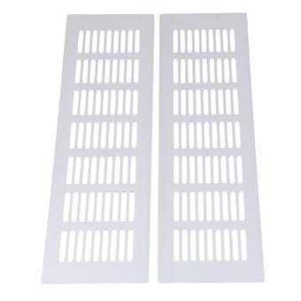 2pcs aluminio plata louvre grille aire ventilación cubierta de ventilación 8x30cm