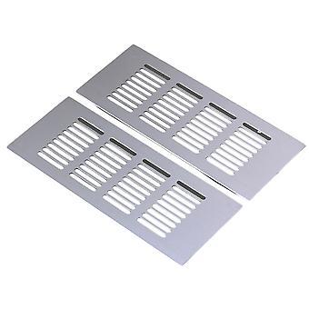 2pcs cuadrado 200mm ventilación de aluminio a la parrilla de ventilación de ventilación de aluminio transpirable
