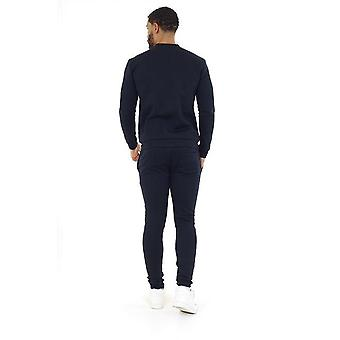 Navy Zip Through Sweatshirt & Jogger Set