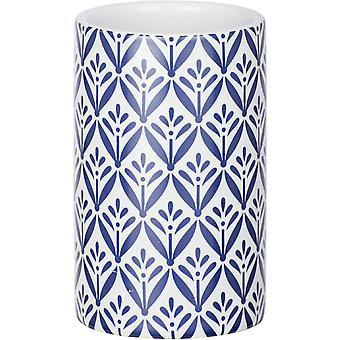 badbeker Lorca 11 cm keramisch wit/blauw