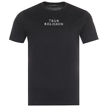 True Religion City Horseshoe Emblem Crew Neck T-Shirt - Black