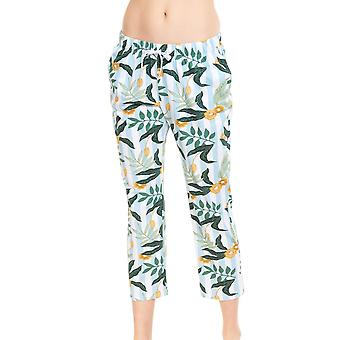 Rösch Vær lykkelig! 1212036-16420 Kvinner's Blomst Stripe Bomull Pyjamas Bukse