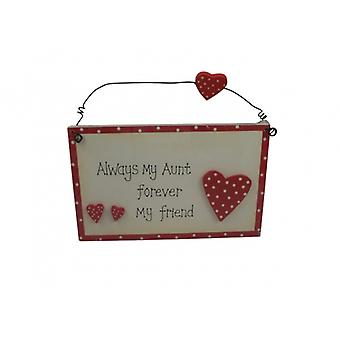Aunt Forever My Friend Sentimental Gift Plaque