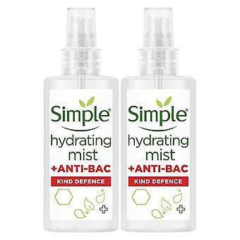 2 Paquet de brouillard hydratant simple + antibactérien Kind Defence Protect Mist 125ml
