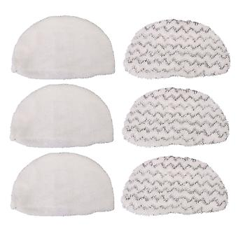 6 x Steam Mop Replacement Pads for Hard Floors Replace 1606668 1606669