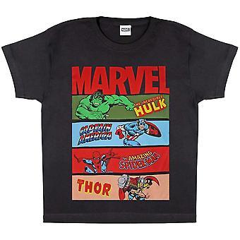 Avengers Montera flickor Comic Strips T-Shirt