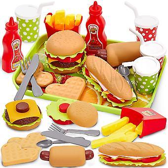 FengChun Kinder Kchenspielzeug Lebensmittel Spielzeug Kche Hamburger Set Pdagogisches Rollenspiele