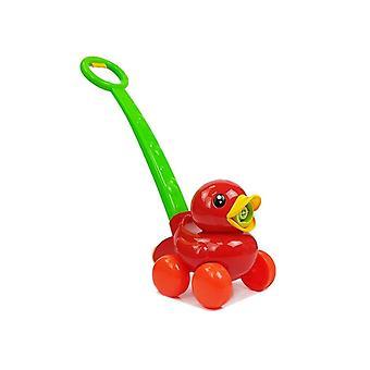 Zeepbellenmachine rode eend met duwstang – Bellenblaas machine