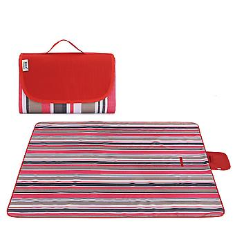 Picnic blanket large waterproof outdoor camping beach mat red stripe