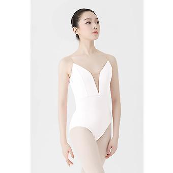 Kvinders Ballet Dance Practice Kostume, Deep V Slynge, Gymnastik Kjole
