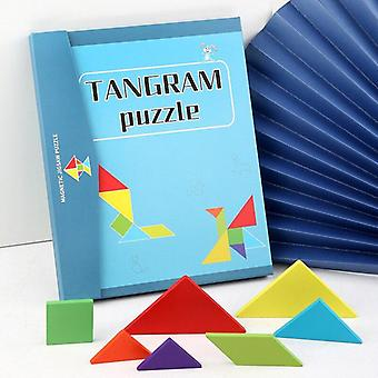 Building Blocks Magnetic Tangram Puzzle Toys Wooden Tangram Educational Puzzle Game |Magnetic