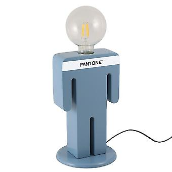 PANTONE Bordslampa Adam Färg Blå, Vit, Svart, Trä L15xP15xA26 cm