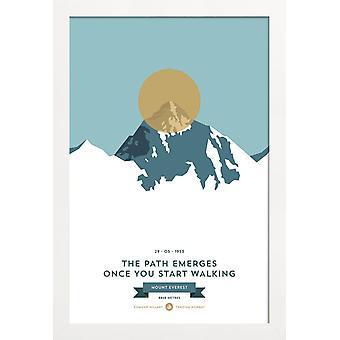 JUNIQE Print - Mount Everest Gold - Plakat górski w kolorach
