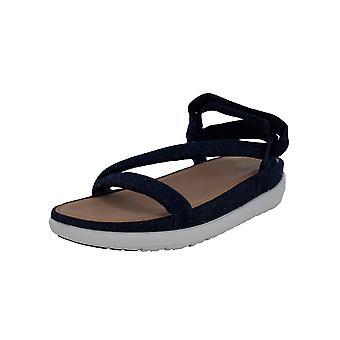 Fitflop Mujer Loosh Luxe Z-Strap - Zapatos de sandalia de mezclilla