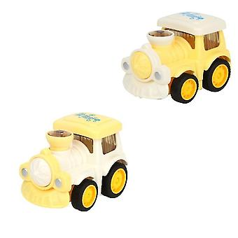 الأصفر الفتيان والفتيات مصغرة الكرتون الهندسة مركبة الجمود carchildren لطيف سيارة نموذج لعبة تعليمية هدية x4568
