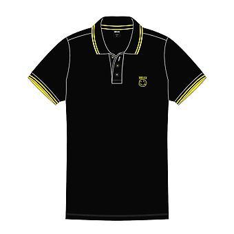 Nirvana Polo T Shirt Smiley Face Band Logo new Official Mens Black