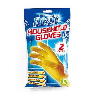 Duzzit Latex Handsker Pack 2 Stor