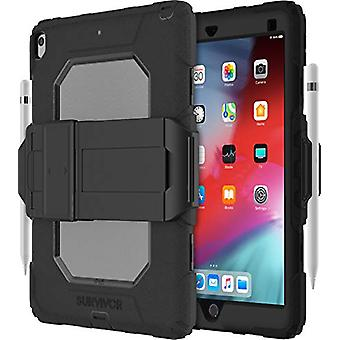 Griffin Survivor All-Terrain - Beskyttende etui for nettbrett - robust - silikon, polykarbonat - svart, klar - for Apple 10,5-tommers iPad Air (3. gen.)