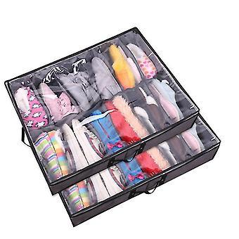 Under Bed Shoe Organizer 2 Pack