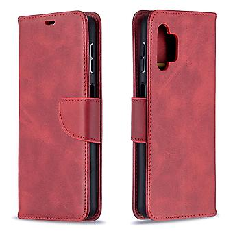 Case Samsung Galaxy A32 4g Leather Cover Folio Wallet Red