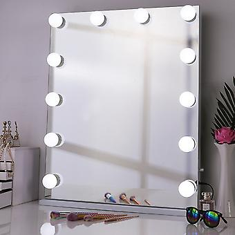 Cool White Dimmbarer Hollywood Make-up Spiegel mit 12 LED-Lampen