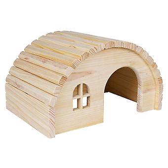 تريكسي خشبية بيت الحيوانات الأليفة الصغيرة