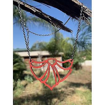 Fan Flame Necklace #6123(As Pictured)