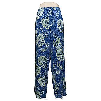 Belle af Kim Grus Kvinders Bukser Palm Print Beach Pant Blue A377273