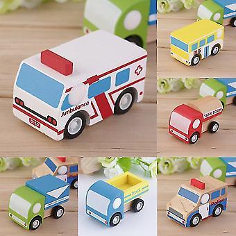 Hot Children Car Educativo Brinquedos Multi-padrão Mini Madeira Ônibus de Veículo