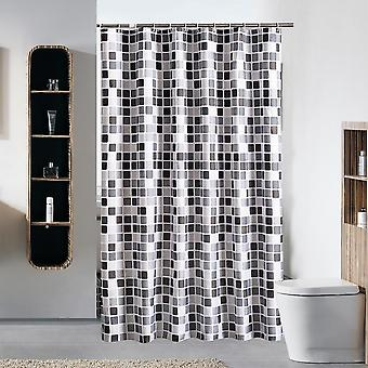 Seeunique Mosaic Bathroom Shower Curtain Waterproof Easy Care Decorative With Reinforced Buttonholes 180x180cm