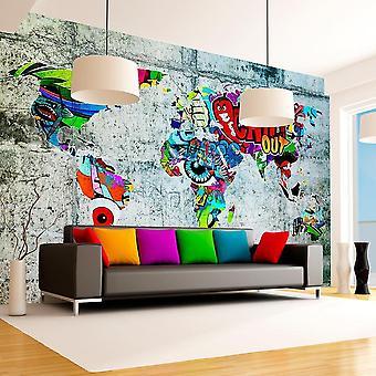 Globe tapet - Kort - Graffiti
