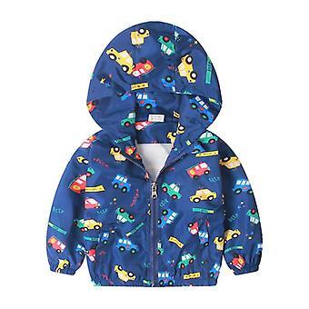 Spring Outerwear Coats, Cute Dinosaur Cartoon Jackets