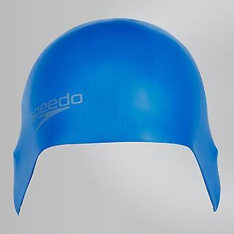 Speedo uinti Plain valettu silikoni uida Cap hydrodynaaminen-sininen