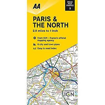 Road Map Paris & The North (Road Map France)