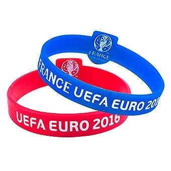 Euro 2016 Official Silicone Wristbands (Pack Of 2)