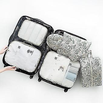 Packing organizers 7 piece set of luggage packing travel organizer cubes and pouches cat garden