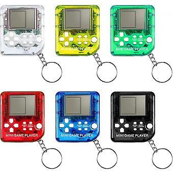 Brick Game Console Keychain Classical Portable Game Console 24 Pcs