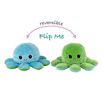 Reversible Octopus Plushie Doppelseitige Flip Doll Show Stimmung Spielzeug