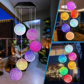Led Solar Wind Chime Lampe, Butterfly Chime Light Color Changing pour Jardin Patio Porche Mobile Extérieur ou Intérieur Décor Cadeau d'Anniversaire de Noël pour Daug