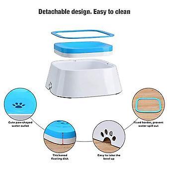 Kutya víz tál / Splash Proof Pet adagoló / Macska szökőkút - Tartsa víz tiszta, 1,5l