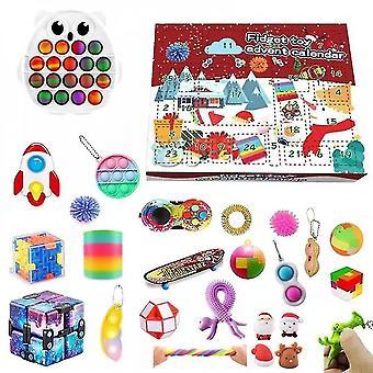 24pcs Adventskalender Spielzeug Set Weihnachten Countdown Sensory Toys