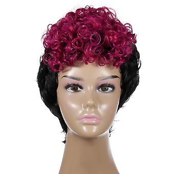 Brand Mall Wigs, Pelucas de Encaje, Cabello Curly Corto Realista