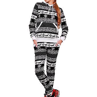 Womens Christmas Hooded Sweatshirt Pants Tracksuit Loungewear Xmas Set