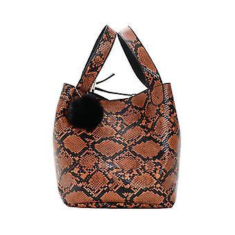 Fashion Women Snakeskin Clutch Bag Retro Evening Bag Handbag Purse Shoulder Crossbody Bag