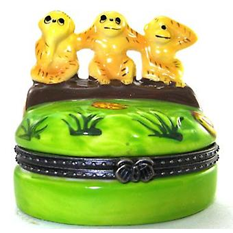 See No Evil Monkies Monkeys Trinket Box  phb