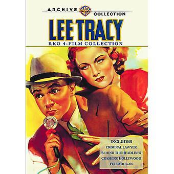 Lee Tracy Rko 4 Film samling [DVD] USA importerer