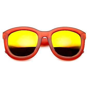 الإطار بلوري اللون مرآة عدسة جريئة المتضخم القرن انعقدت النظارات الشمسية