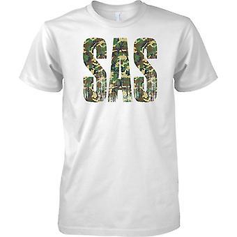 SAS Camo woorden - noodlijdende - 's werelds beste Special Forces - Mens T Shirt