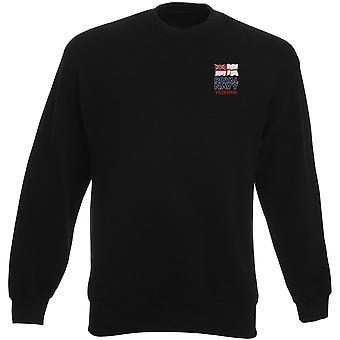 Königliche Marine Veteran bestickt Logo - offizielle Heavyweight Sweatshirt